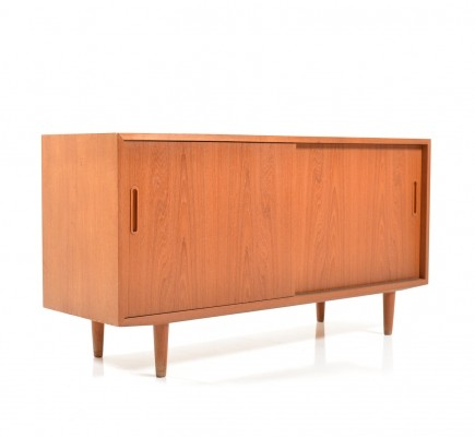 Small Teak wooden Sideboard by Poul Hundevad