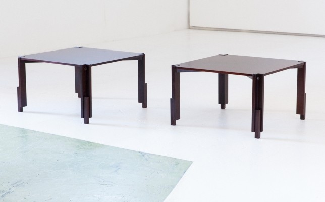 Two Italian Mid-Century Modern Low Side Coffee Tables, 1950