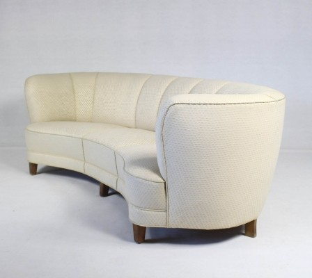 Danish Vintage Curved Banana Sofa 1950s