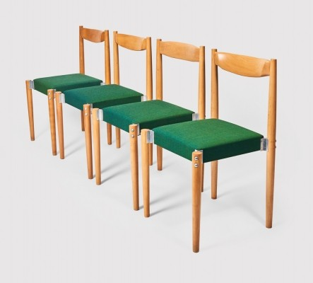 4 x Miroslav Navrátil dinner chair, 1970s