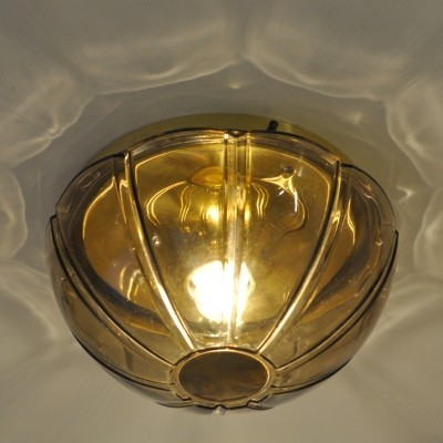 5 x Glashütte Limburg ceiling lamp, 1970s