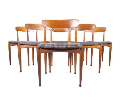 Set of Six Johannes Andersen Teak Dining Chairs