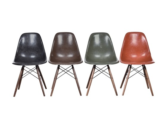 Set of 4 DSW dinner chairs by Charles & Ray Eames for Herman Miller, 1970s
