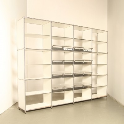 steel line regal shelving unit by j rg steiner dirk uptmoor for system 180 berlin 74560. Black Bedroom Furniture Sets. Home Design Ideas