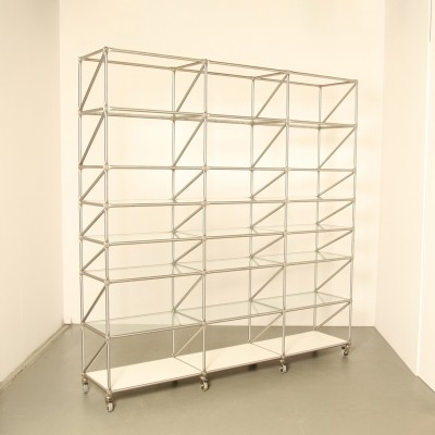 Steel-Line Regal shelving unit by Jürg Steiner & Dirk Uptmoor for System 180 Berlin