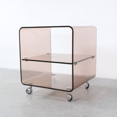 Lucite side table by Michel Dumas for Roche Bobois, 1970s