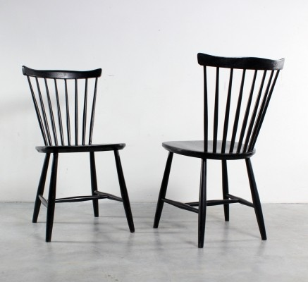 Pair of dining chairs by Yngve Ekström for Nesto, 1960s