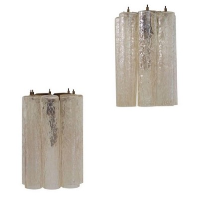 Pair of Venini Murano Glass Wall Lights