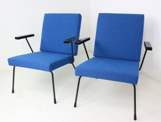 Set of Two Wim Rietveld Lounge Chairs, 1950s