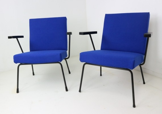 Pair of Wim Rietveld Lounge Chairs for Gispen, 1954