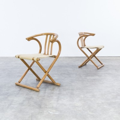 Pair of Thonet Bentwood Folding chairs, 1960s