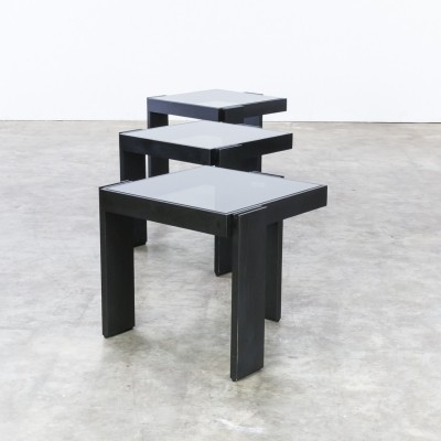 Beautiful stackable side tables mimiset by Porada Arredi