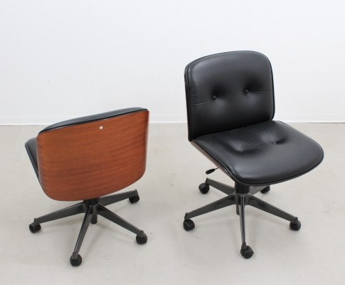 Pair of office chairs by Ico Parisi for MIM Roma, 1960s