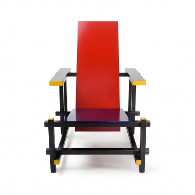 Rietveld Red & Blue Chair by Cassina