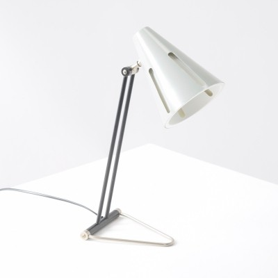 Zonneserie No. 1 desk lamp by H. Busquet for Hala Zeist, 1950s
