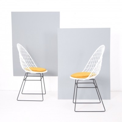 Rare & early wire frame chairs by Cees Braakman & A. Dekker for Pastoe