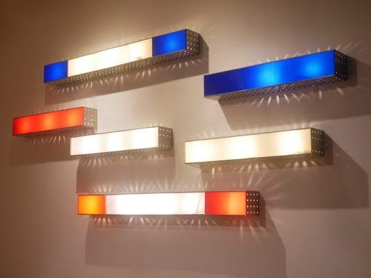 18 x ChaChaCha wall lamp by Edward Van Vliet for Modular Systems Lighting, 1990s
