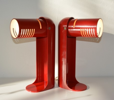Pair of Flip Top desk lamps by Richard Carruthers for Leuka, 1970s