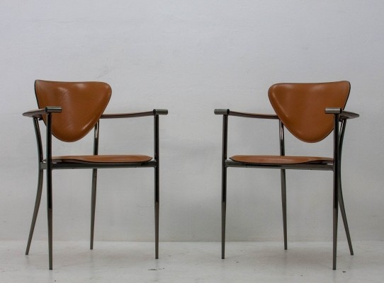 Pair of Arrben Italy dinner chairs, 1960s