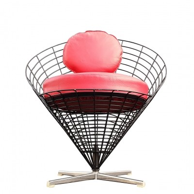 K2 Wire Cone lounge chair by Verner Panton for Plus Linje, 1960s