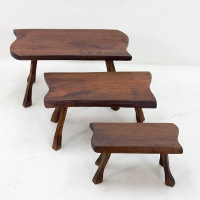 Set of 3 vintage nesting tables, 1970s