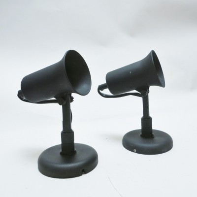 Pair of Cornet wall lamps by Lita France, 1960s