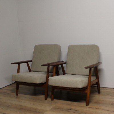 2 x GE240 Cigar lounge chair by Hans Wegner for Getama, 1950s