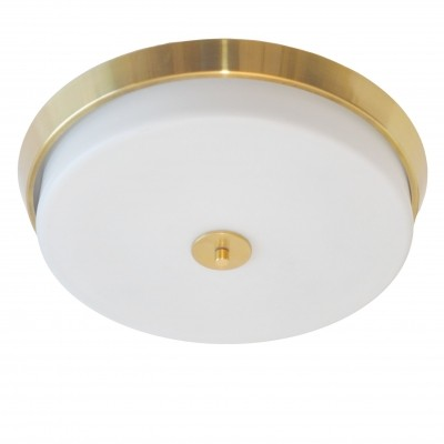 Midcentury opaline glass ceiling light