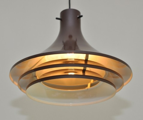 Brown & green 'Svera' light by Hans Agne Jakobsson for AB Markaryd, 1970s