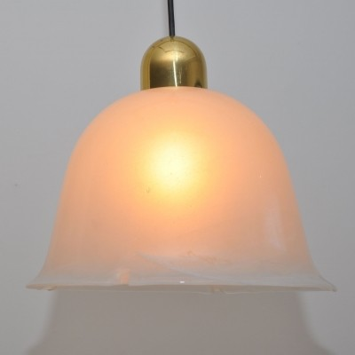 Glashütte Limburg hanging lamp, 1970s