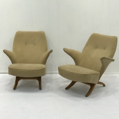 2 x Pinguin arm chair by Theo Ruth for Artifort, 1950s