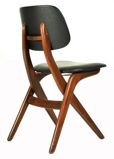 8 x Scissors dinner chair by Louis van Teeffelen for Wébé, 1960s