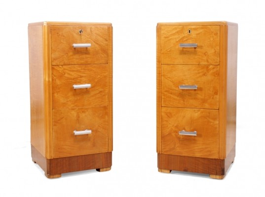 Art Deco Bedside chests by Maple & Co