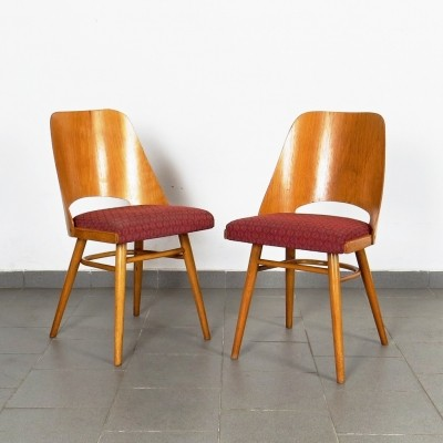 Pair of Ton Czechoslovakia dinner chairs, 1960s