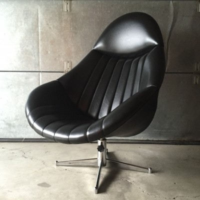 Swivel lounge chair by Rudolf Wolf for Rohé Noordwolde, 1970s