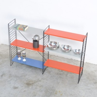 Double Freestanding Tomado Rack in Blue, Grey & Red