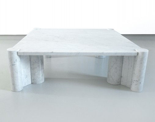 Gae Aulenti Jumbo table in Carrara Marble, early production ca 1966