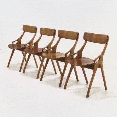 Set of 4 Dining Chairs by Hovmand Olsen for Mogens Kold, 1950s