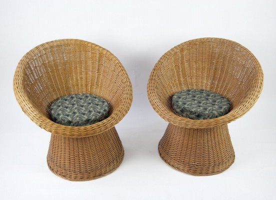 Pair of Basket Chairs, 1960s