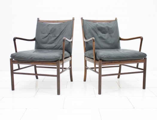 2 x Colonial lounge chair by Ole Wanscher for Poul Jeppesen, 1960s