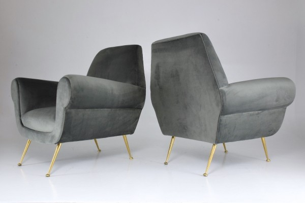 Pair of Italian Armchairs by Gigi Radice, 1950s