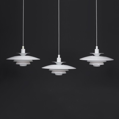 Danish pendant lights of the 70s model Sofia by Jeka