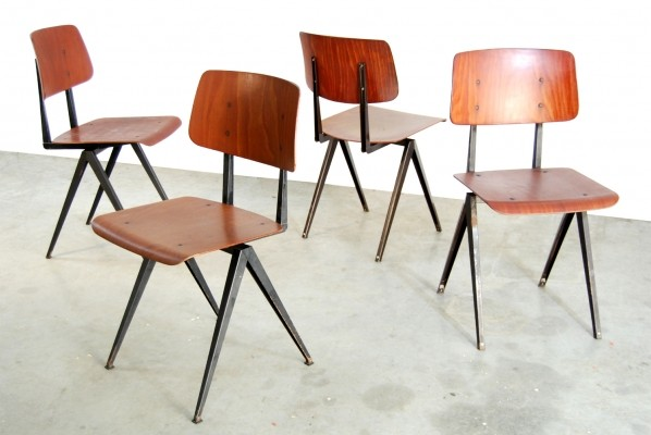 Set of 4 s16 dinner chairs by Galvanitas, 1960s