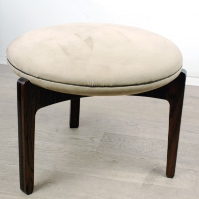 Danish Modern Rosewood Stool by S. Ellekaer for Linneberg
