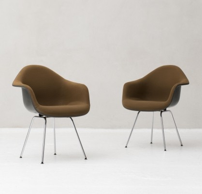 Pair 'Dax' shell armchairs by Charles & Ray Eames for Herman Miller