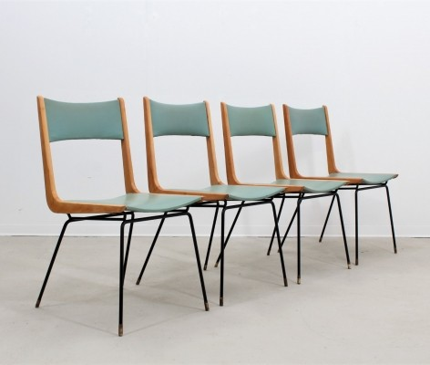 Set of 4 Carlo de Carli dinner chairs, 1950s
