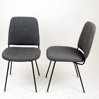 Pair of Italian Midcentury Dining Chairs by Arflex