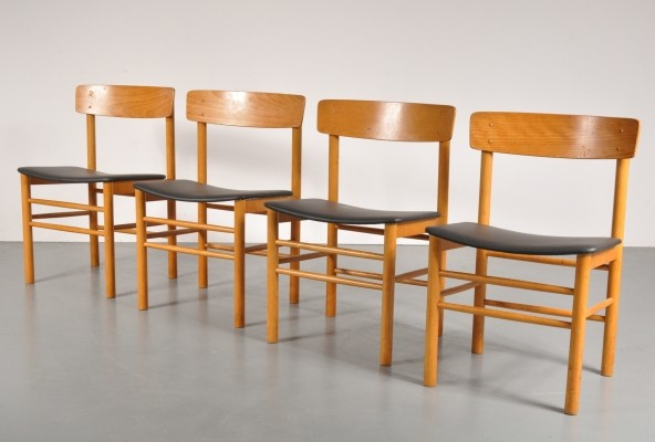 Set of 4 Farstrup Møbler dining chairs, 1960s