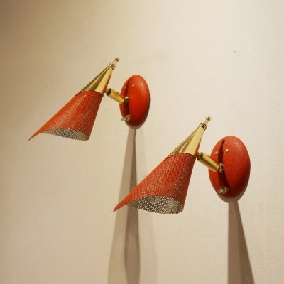 Pair of vintage wall lamps, 1950s