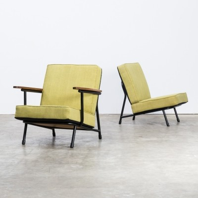 Pair of Alf Svensson '013' low back chairs for Dux, 1950s